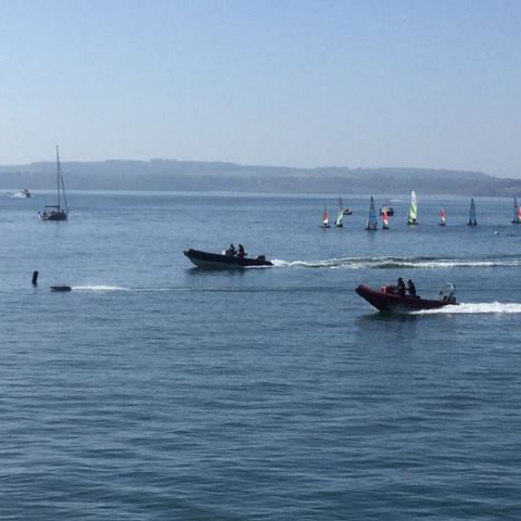 TORQUAY HARBOUR - A-X CHASE BOAT RACE (RACE 1)